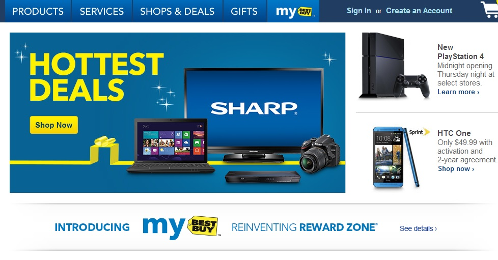 Sales at Best buy for holidays