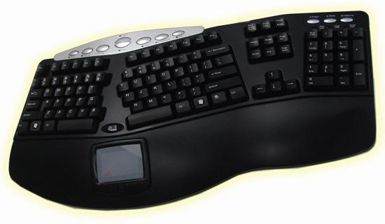 Adresso Tru-Form Pro Contoured Ergonomic Keyboard