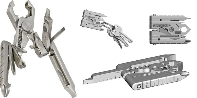 Swiss+Tech ST53100 Micro-Max 19-in-1 Keychain Multitool - Various Functions