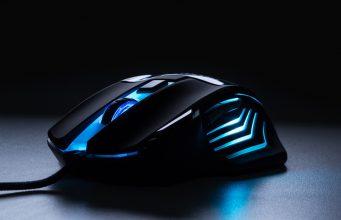 Blue LED gaming mouse