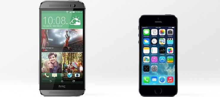 htc one iphone 5s