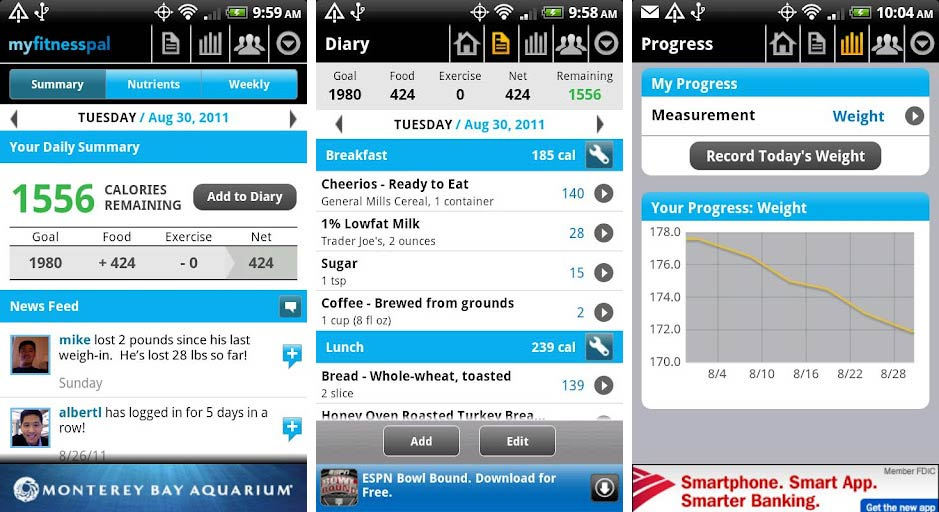 Calorie Counter & Diet Tracker created by My Fitness Pal