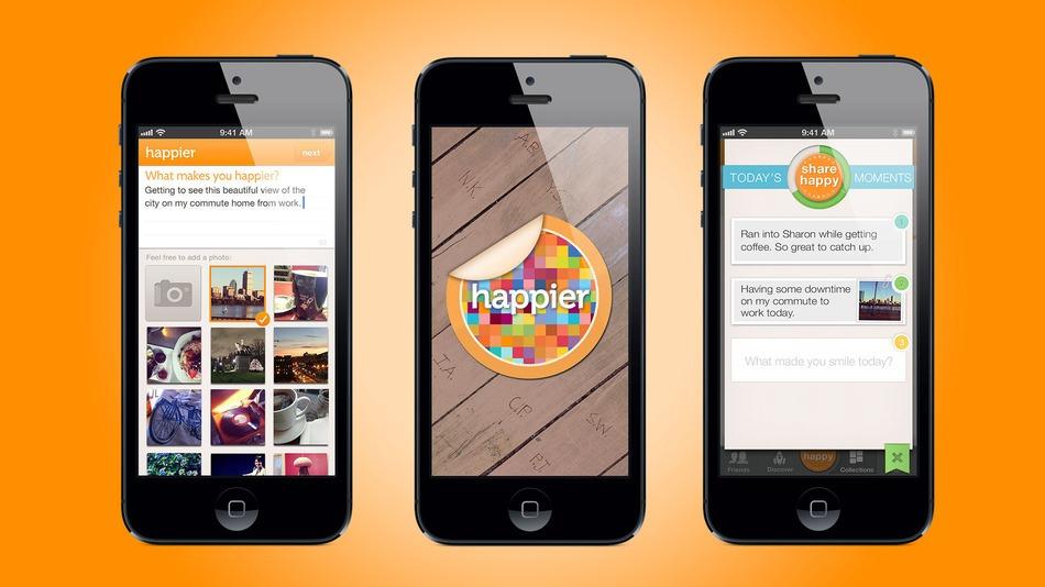 Happier app for self improvement