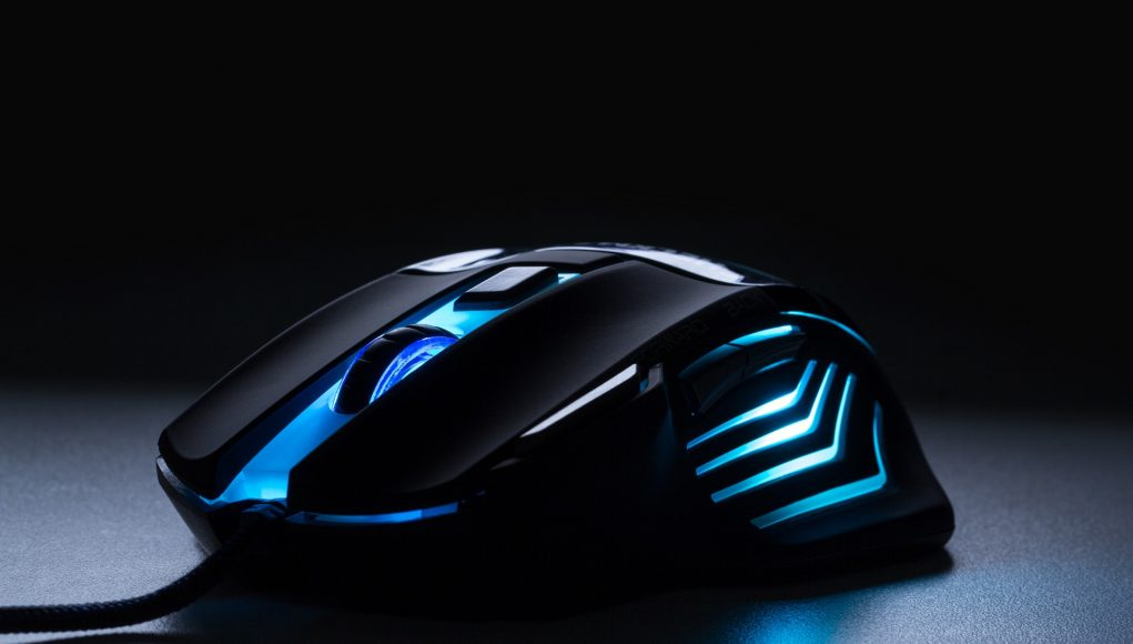 Blue LED gaming mouse